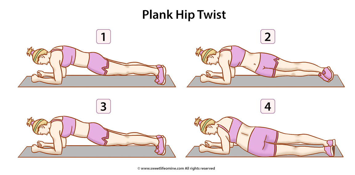 Plank Hip Twist Exercise
