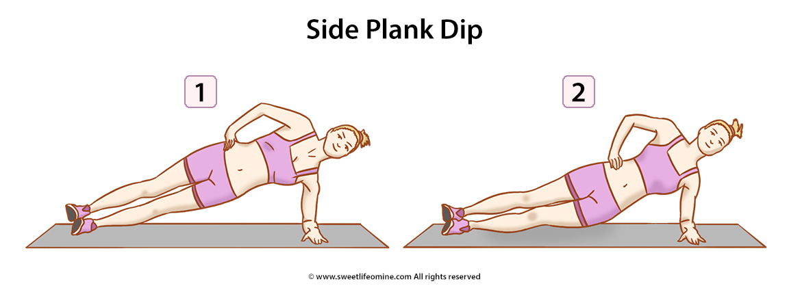 Side Plank Dip Exercise