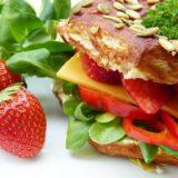 Raspberry/ Strawberry Sandwich