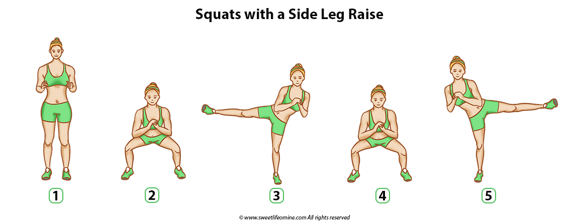 Squats with a Side leg raise