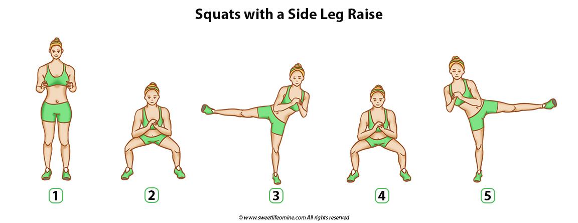 Squats with a Side leg raise