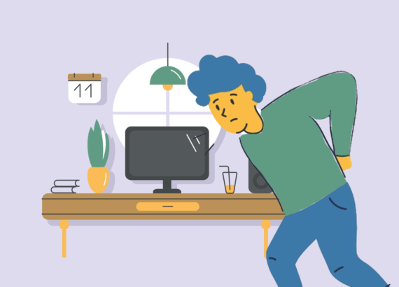 reduce back pain while working from home