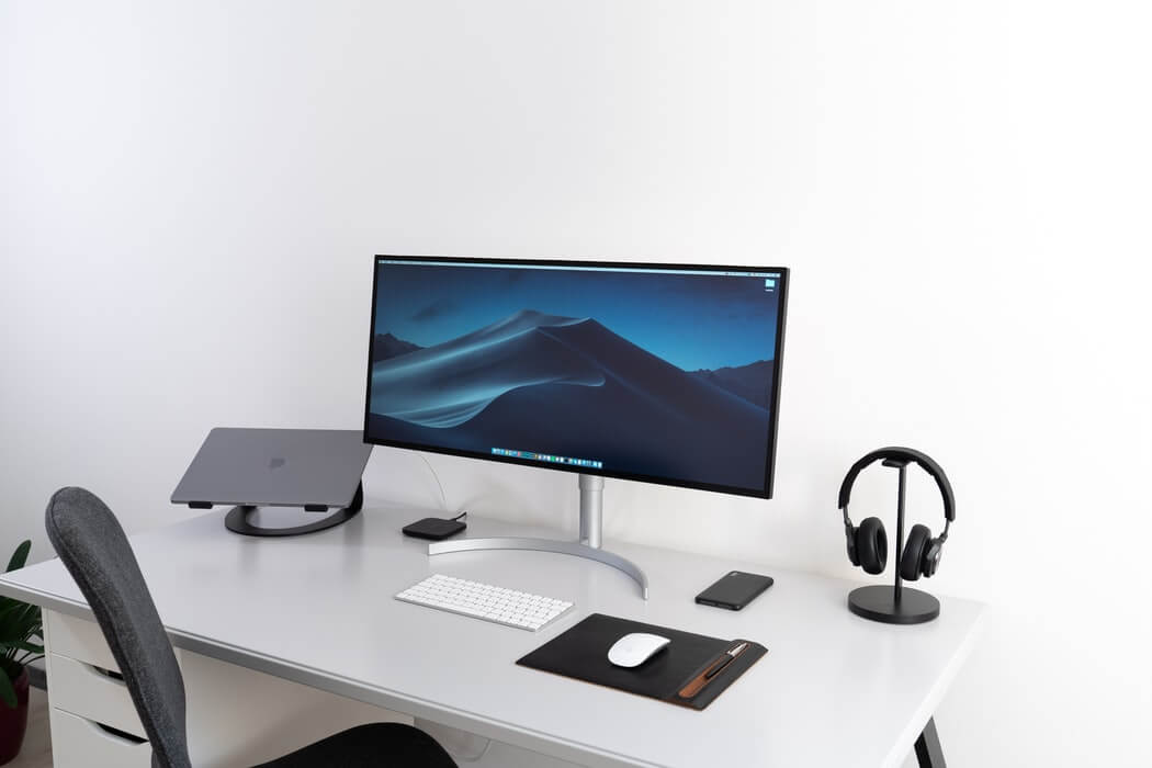 working from home desk setup